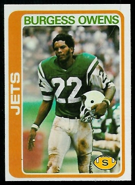 Burgess Owens 1978 Topps football card