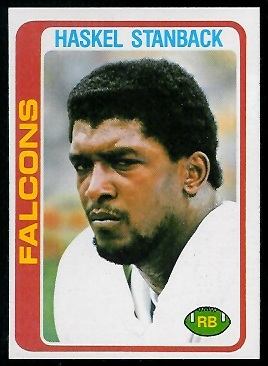 Haskel Stanback 1978 Topps football card