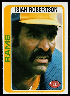Isiah Robertson 1978 Topps football card