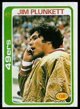 Jim Plunkett 1978 Topps football card