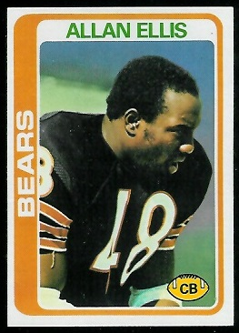 Allan Ellis 1978 Topps football card