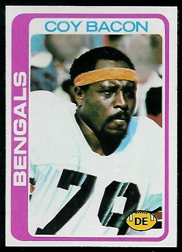 Coy Bacon 1978 Topps football card