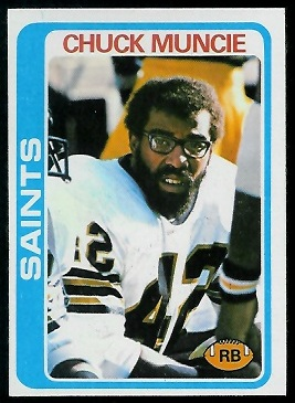 Chuck Muncie 1978 Topps football card