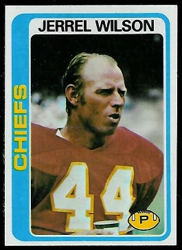 Jerrel Wilson 1978 Topps football card