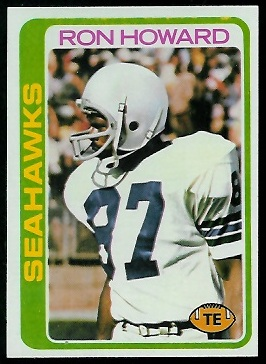 Ron Howard 1978 Topps football card