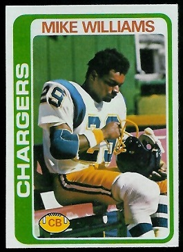 Mike Williams 1978 Topps football card