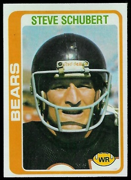 Steve Schubert 1978 Topps football card