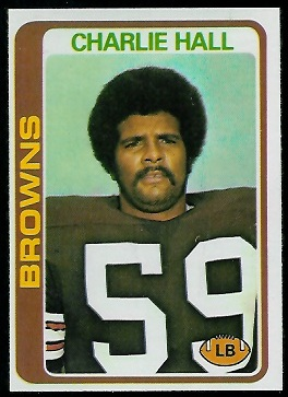 Charlie Hall 1978 Topps football card