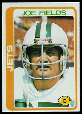 Joe Fields 1978 Topps football card