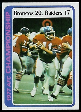 AFC Championship 1978 Topps football card