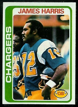 James Harris 1978 Topps football card
