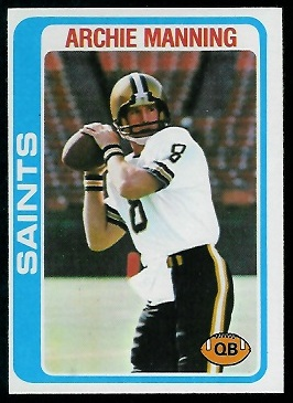 Archie Manning 1978 Topps football card
