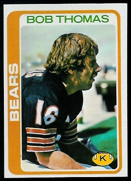 Bob Thomas 1978 Topps football card