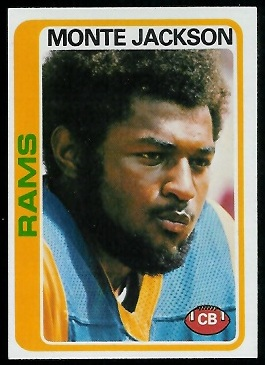 Monte Jackson 1978 Topps football card