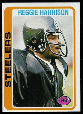 Reggie Harrison 1978 Topps football card