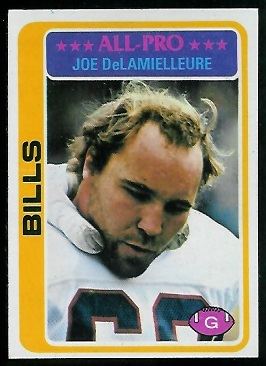 Joe DeLamielleure 1978 Topps football card