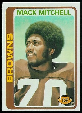 Mack Mitchell 1978 Topps football card
