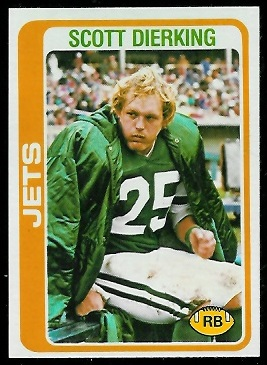 Scott Dierking 1978 Topps football card