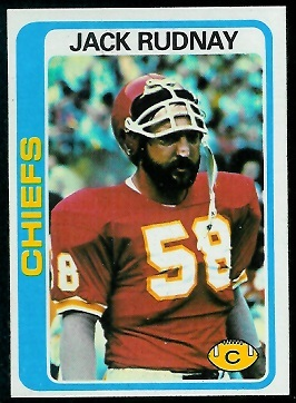 Jack Rudnay 1978 Topps football card