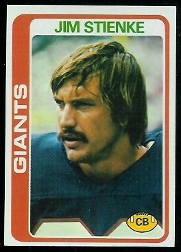 Jim Stienke 1978 Topps football card