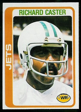 Richard Caster 1978 Topps football card