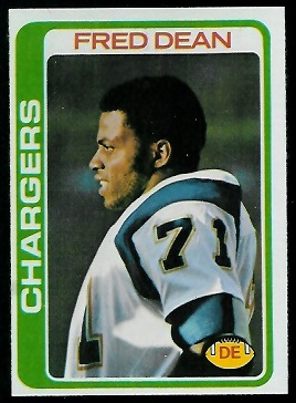 Fred Dean 1978 Topps football card
