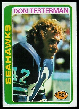 Don Testerman 1978 Topps football card