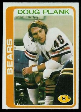 Doug Plank 1978 Topps football card