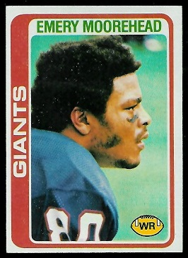 Emery Moorehead 1978 Topps football card