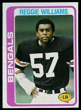 Reggie Williams 1978 Topps football card