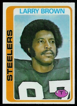 Larry Brown 1978 Topps football card