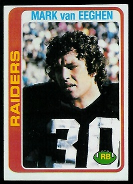 Mark van Eeghen 1978 Topps football card