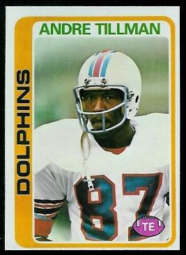 Andre Tillman 1978 Topps football card
