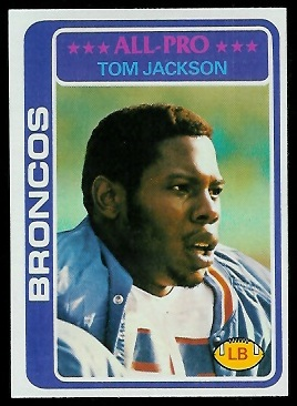 Tom Jackson 1978 Topps football card