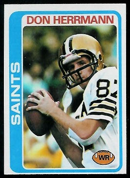 Don Herrmann 1978 Topps football card