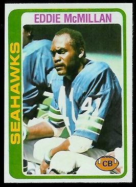 Eddie McMillan 1978 Topps football card