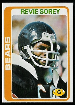Revie Sorey 1978 Topps football card