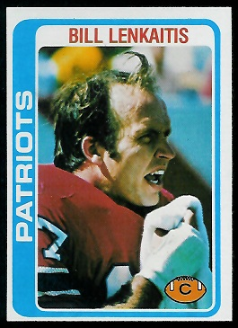 Bill Lenkaitis 1978 Topps football card