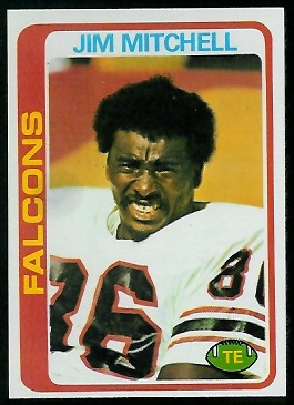 Jim Mitchell 1978 Topps football card