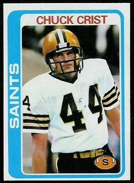 Chuck Crist 1978 Topps football card