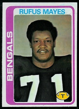Rufus Mayes 1978 Topps football card