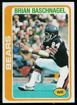 Brian Baschnagel 1978 Topps football card