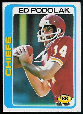 Ed Podolak 1978 Topps football card