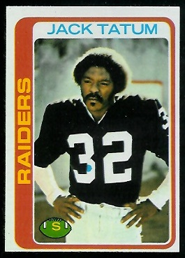Jack Tatum 1978 Topps football card
