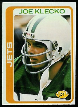 Joe Klecko 1978 Topps football card