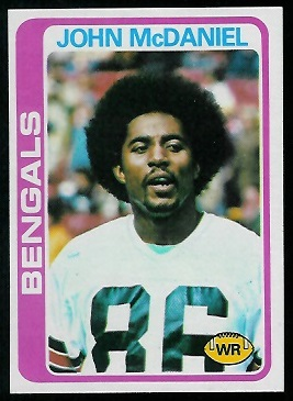 John McDaniel 1978 Topps football card
