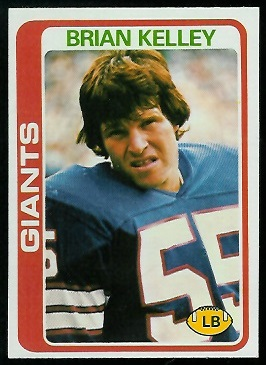 Brian Kelley 1978 Topps football card