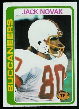 Jack Novak 1978 Topps football card