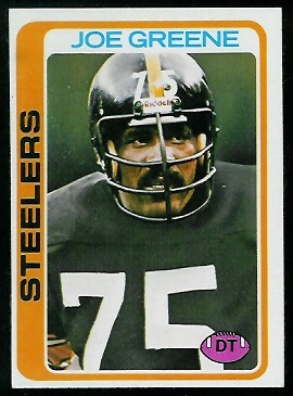 Joe Greene 1978 Topps football card