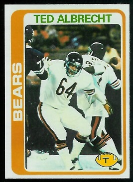 Ted Albrecht 1978 Topps football card
